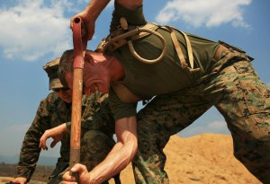 Biblical Literalism: Is not working hard like these Marines digging post holes
