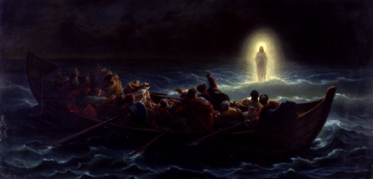 Walk on the Water: Christ shows Peter and the rest that they can walk on the water.