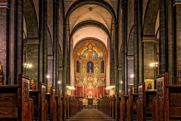 Christian church interior, a place for the Sabbath.