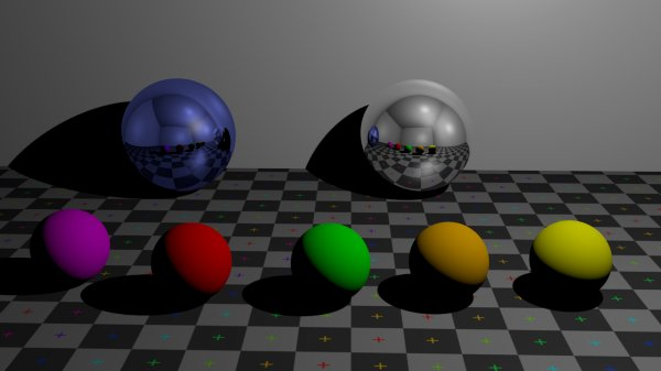 CGI spheres, including reflective surfaces (metallic spheres).