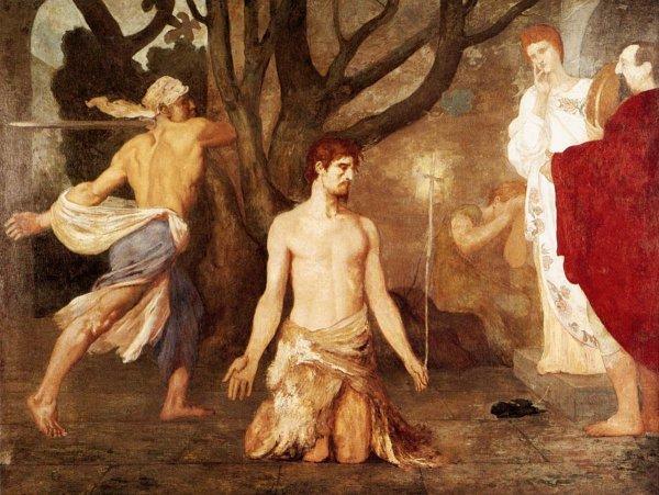Painting: the beheading of John the Baptist